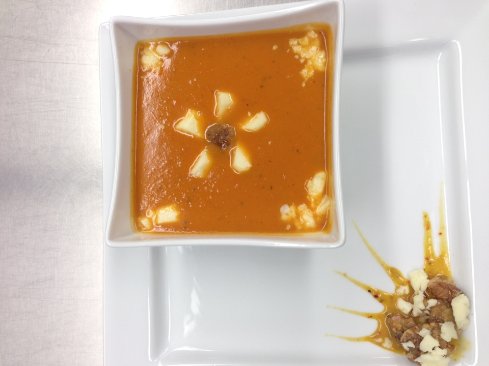 This soup, made by a team of students from Brock, won the Students4Soup Challenge in Barrie on Friday Dec. 5, 2014. (Heather Butts / CTV Barrie)