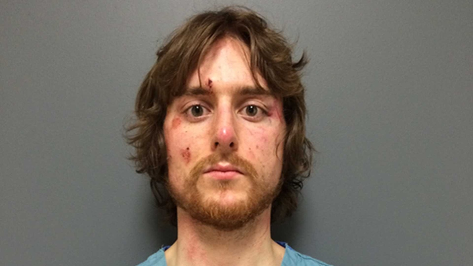 Justin Bourque after being arrested by the RCMP in June 2014.