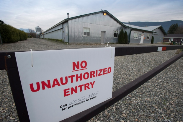Avian flu farm quarantine