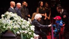 Elise Beliveau accepts condolences