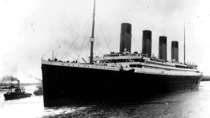 The Titanic leaves Southampton, England on her maiden voyage April 10, 1912. (AP)