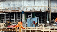A construction site is shown in Montreal, Tuesday, February 14, 2012.