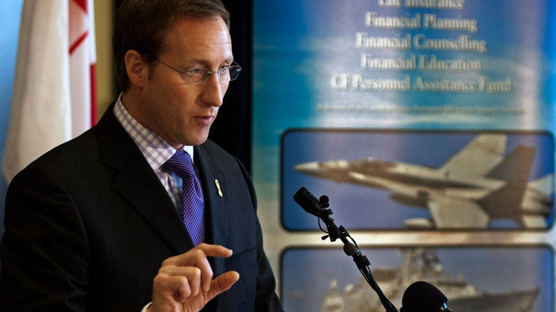 Defence Minister Peter MacKay addresses the audience at a news conference in Halifax on Tuesday April 10, 2012. (Andrew Vaughan / THE CANADIAN PRESS)