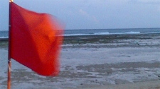 Wind and waves pick up along coast of Bali, Indonesian, after an earthquake prompted Tsunami watch on Wednesday, April 11, 2012. (Lisa LaFlamme / CTV News)