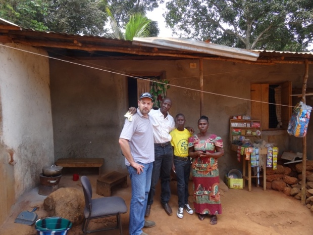 Massa in Freetown earlier this year, with his wife Augusta and son. CTV News' Ethan Faber is with the family, on the left.