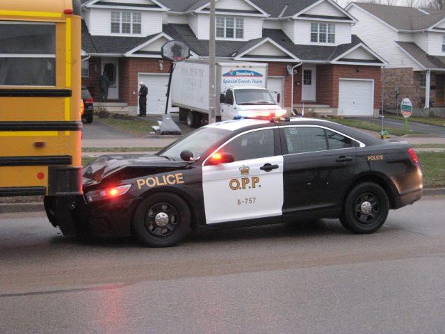 Car Crashes Into College Bus