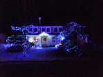Christmas lights decorate a house in Surrey, B.C. (File Photo CTV).