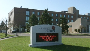 Cambridge Memorial Hospital is seen in Cambridge, Ont. on Thursday, April 12, 2012.