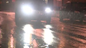 Torrential rain flooded roads and bridges across the Maritimes.