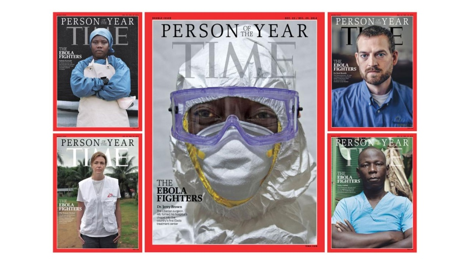 Time magazine says Ebola fighters have won its 2014 Person of the Year award.