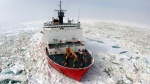 The U.S. Coast Guard cutter 'Healy' is shown in the Beaufort Sea. (U.S. Coast Guard)