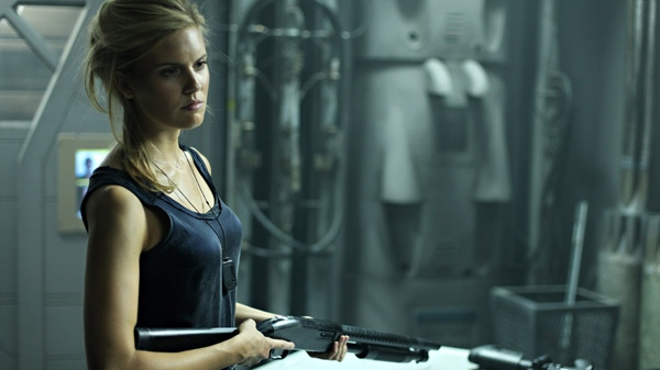 Maggie Grace is shown in a scene from Alliance Atlantis' 'Lockout.'