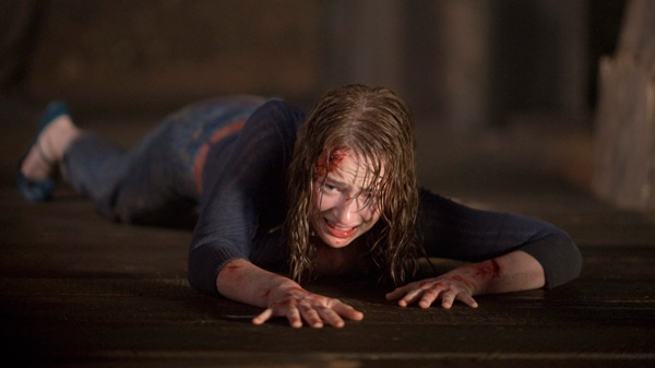 Kristen Connolly is shown in a scene from Alliance Atlantis's 'The Cabin in the Woods.'