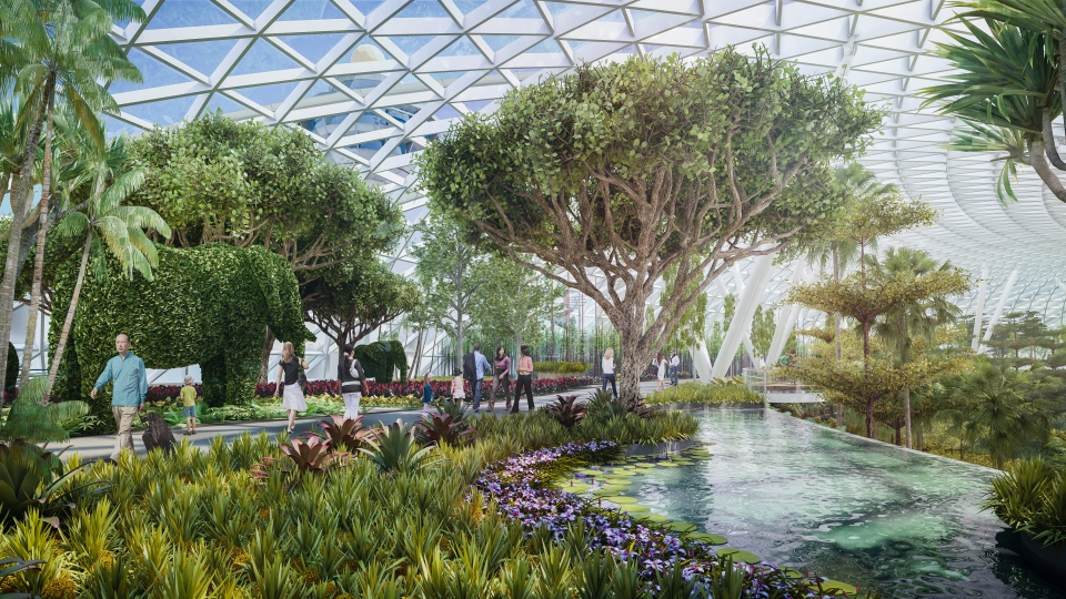 Raising bar for luxury airports: Singapores Jewel Changi ...