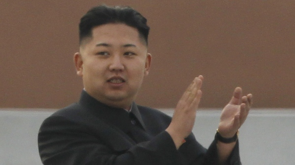 North Korean leader Kim Jong Un attends an unveiling ceremony for statues of late leaders Kim Jong Il and Kim Il Sung in Pyongyang, North Korea, Friday, April 13, 2012. (AP / Ng Han Guan)