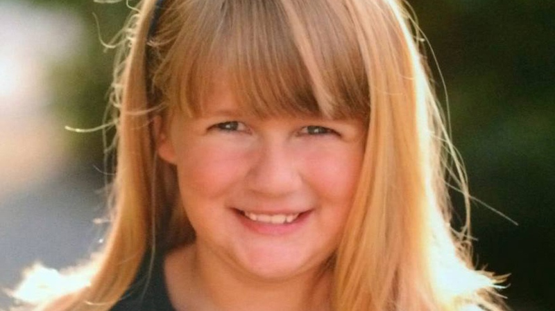 Teagan Batstone, seen in an undated Facebook photo, was found dead in her mother's car on Dec. 10, 2014. She was eight years old.