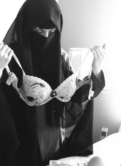 Fine arts student Sooraya Graham, 24, took this photograph as a class assignment in hopes of humanizing women who wear the niqab. (Click view larger size to see the whole photo)