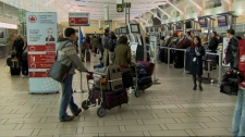 Air Canada passengers arrived at the Vancouver International Airport Friday morning to find several flights had been delayed or cancelled. April 13, 2012. (CTV)