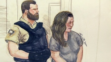 Lisa Batstone shown in a court sketch