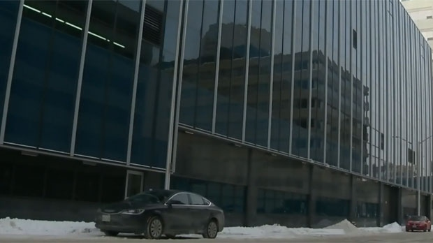The Downtown Winnipeg Police Service Headquarters is pictured in this file image. Police say the Motorola radios they use encrypt and decrypt secure police communications.