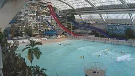 A file image shows a water park. Officials are proposing construction of one at The Forks in Winnipeg.