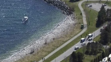 A 50-year-old woman was pulled from the water in Humber Bay with no vital signs, Friday, April 13, 2012.