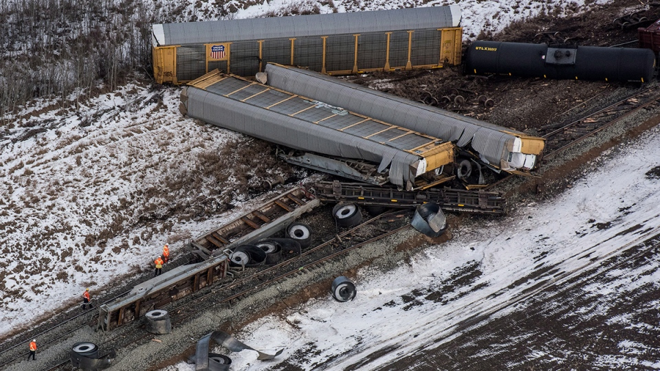CN freight train derails in central Saskatchewan: no spill ...