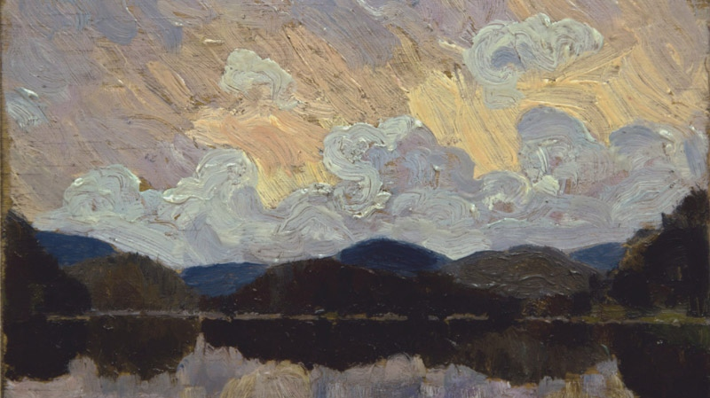 A painting bought at a garage sale and believed to be the work of artist Tom Thomson is creating a buzz before it's auctioned off in Vancouver next month. The oil painting on plywood is thought to be by icon Thomson at the height of his career in 1915.