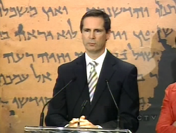 Ontario Premier Dalton McGuinty speaks during a press conference at the Royal Ontario Museum in Toronto, Wednesday, Sept. 24, 2008.
