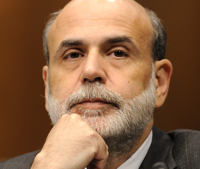 U.S. Federal Reserve Chairman Ben Bernanke testifies on Capitol Hill in Washington before  the Joint Economic Committee, Wednesday, Sept. 24, 2008. (AP / Susan Walsh)