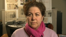 Antonella Mega, the wife of Hamid Ghassemi-Shall who is on death row in Iran, is seen speaking to CTV News.