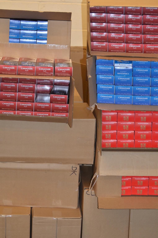 Contraband cigarettes seized at London