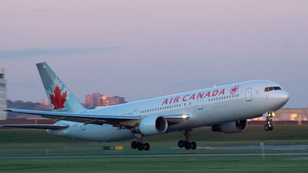 An Air Canada Boeing 767 is shown in a handout photo. A new report blames a groggy Air Canada pilot for a sudden dive that led to 16 injuries over the North Atlantic. (Air Canada /THE CANADIAN PRESS)