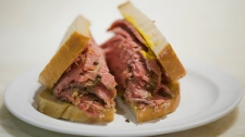 A deli smoked meat sandwich is shown in Montreal, Thursday, March 8, 2012. (Graham Hughes / THE CANADIAN PRESS)