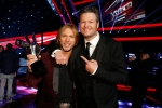 Craig Wayne Boyd, left poses with Blake Shelton Tuesday Dec. 16, 2014. Craig Wayne Boyd, the country rocker from Blake Shelton's team, was named the winner of 'The Voice' Tuesday. (Trae Patton)