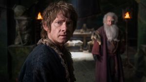 "In this image released by Warner Bros. Pictures, Martin Freeman appears in a scene from the film, ""The Hobbit: The Battle of the Five Armies."" (Mark Pokorny / Warner Bros. Pictures)"