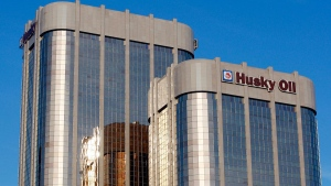 The Husky Energy towers in Calgary, on Feb. 1, 2010. (Jeff McIntosh/The Canadian Press)
