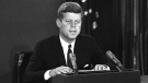 U.S. President John F. Kennedy in Washington, on Oct. 22, 1962. (AP)