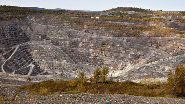 The Jeffrey open-pit asbestos mine is shown on October 7, 2011 in Asbestos, Que. (Jacques Boissinot / THE CANADIAN PRESS)
