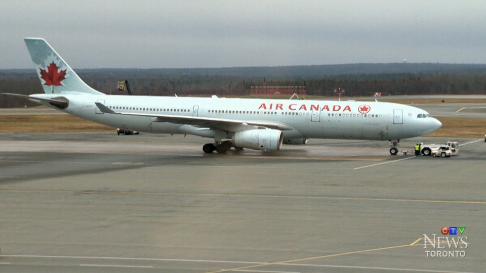 An Air Canada flight that left London, England, bound for Toronto was temporarily diverted to Halifax Wednesday.