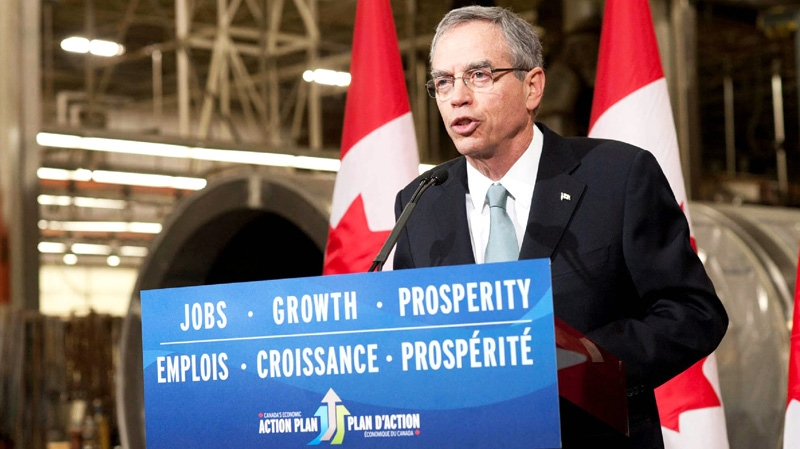Natural Resources Minister Joe Oliver  announces a plan to streamline the review process for major economic projects in Scarborough, Ont., Tuesday, April 17, 2012. (Natural Resources Canada)