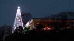 Giant steel Christmas tree on Aegibong mountain in Gimpo, South Korea, on Dec. 21, 2010. (AP / Lee Jin-man)