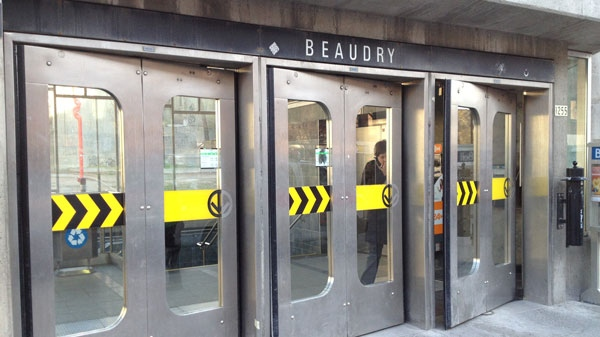 Beaudry metro was shut down for 20 minutes on April 18 after a smoke bomb was thrown in the metro tunnels. (Jean-Luc Boulch/CTV News)