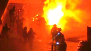 LIVE1: Four-alarm fire in Queens, N.Y.