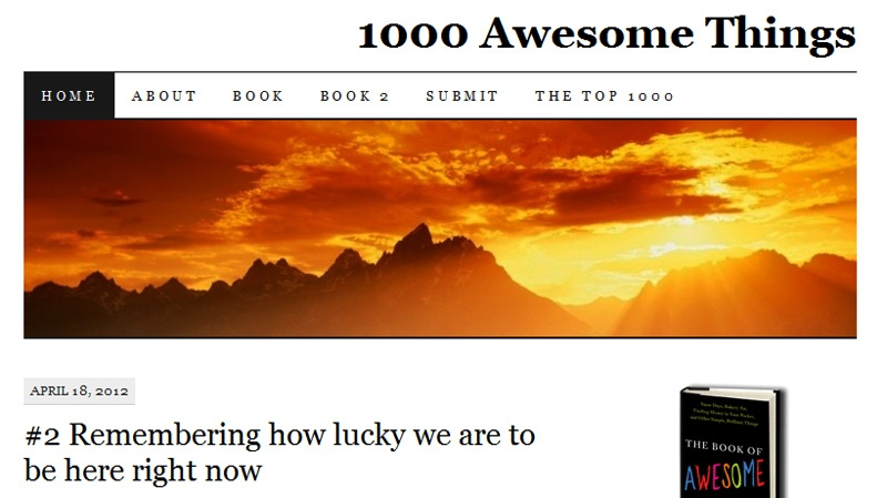 Neil Pasricha muses about what makes life so awesome, keeping a running list of all his favourite things in his wildly popular blog, 1000awesomethings.com. The list will come to an end, as Pasricha decides what the No. 1 most awesome thing in life is on Thursday, April 19, 2012.