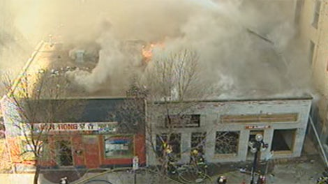 The Albert Street blaze gutted three buildings near Notre Dame Avenue on April 19, 2012 in Winnipeg.