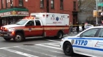 The shooting took place Saturday afternoon in Brooklyn's Bedford-Stuyvesant neighbourhood. Both officers were rushed to Woodhull hospital.