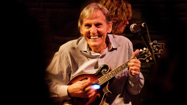 In this May 15, 2010 photo, Levon Helm performs on the mandolin during a Ramble performance at Helm's barn in Woodstock, N.Y. (AP / Times Herald-Record,John DeSanto)