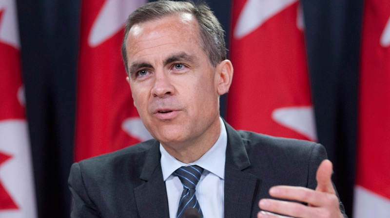 Bank of Canada Governor Mark Carney speaks with reporters during a news conference in Ottawa, Wednesday April 18, 2012. (Adrian Wyld / THE CANADIAN PRESS)