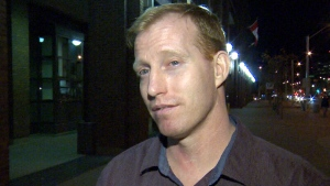 Travis Vader is seen in this undated photo talking with CTV Edmonton.
